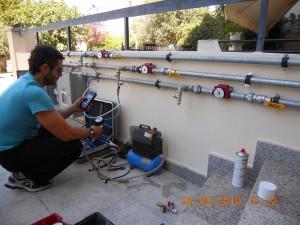 Εγκατάσταση Φυσικού Αερίου Με 3 Επίτοιχους Λέβητες Αερίου Τεχνολογίας Συμπύκνωσης